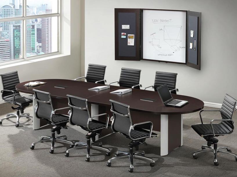 10' Racetrack Shaped Conference Table Office Furniture