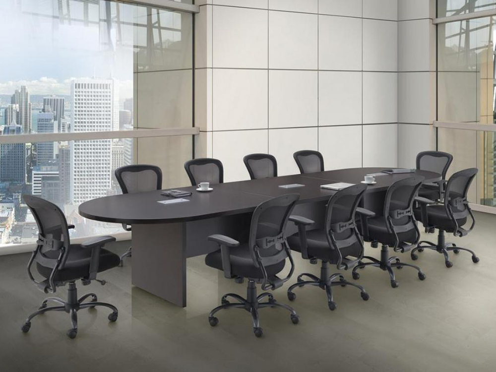 14' Racetrack Shaped Conference Table Office Furniture