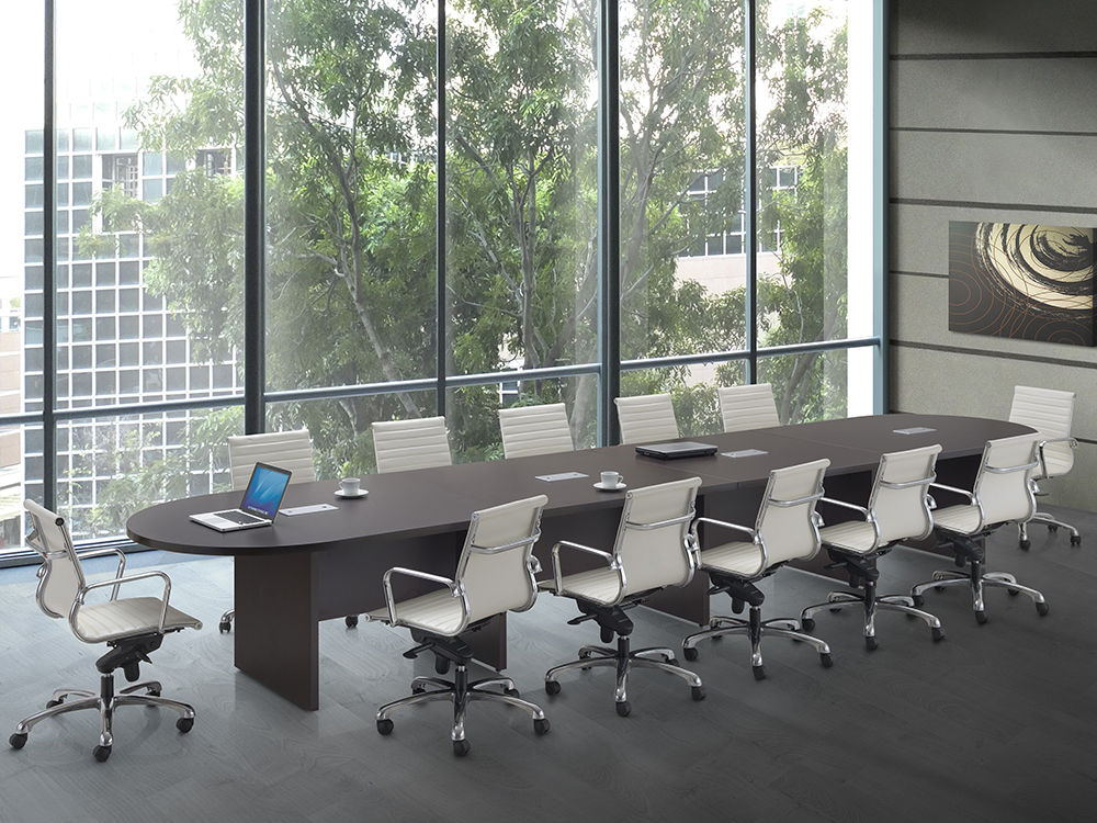 16' Conference Table Slab Base Office Furniture