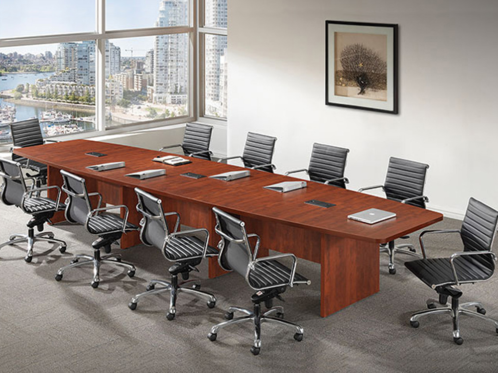 18' Boat Shaped Conference TableOffice Furniture