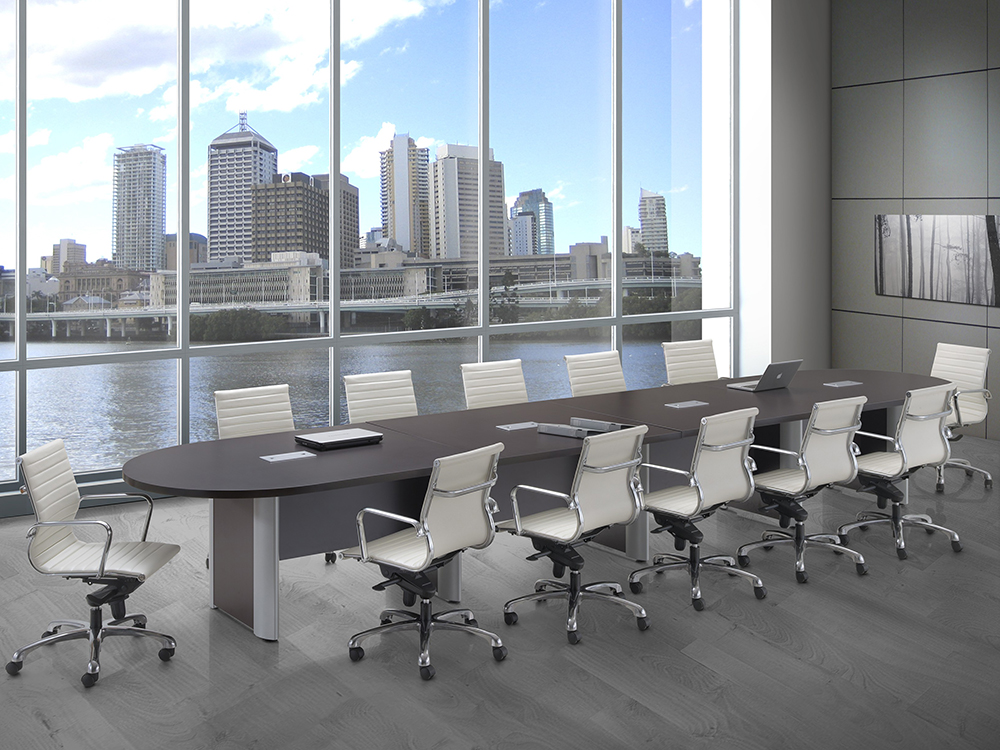 18' Conference Table Slab Base Office Furniture
