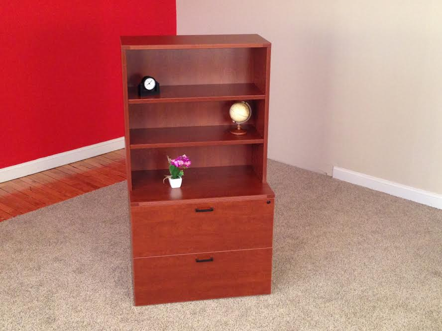 2-Drawer Lateral with Open Hutch Office Storage