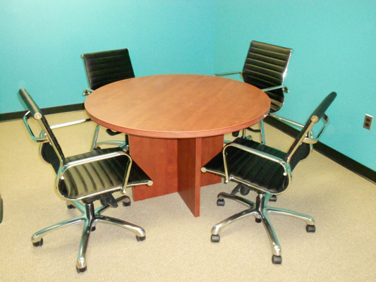 "42"" Round Top Conference Table with Cube Base Office Furniture"