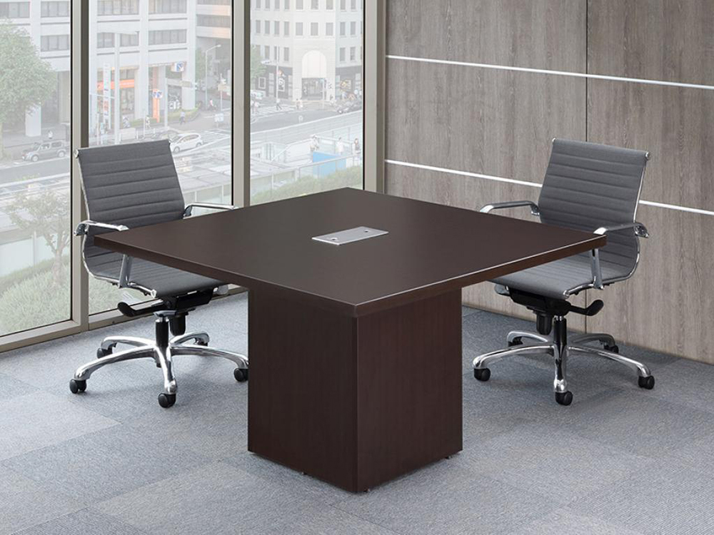 "48"" Square TopConference Table with Cube Base Office Furniture"