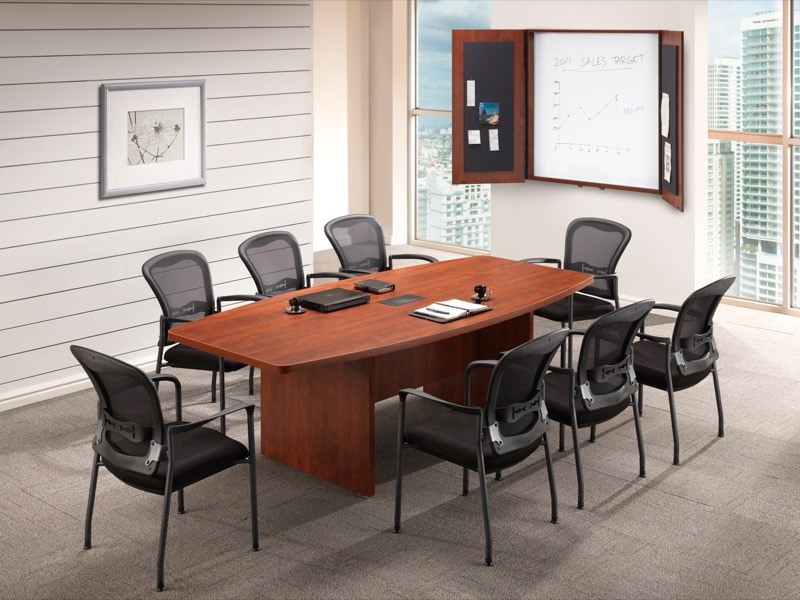 8' Boat Shaped Conference Table Office Furniture