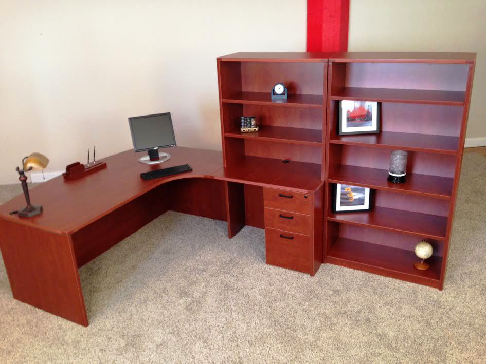 Bowfront L Shaped Office Desk NH MA