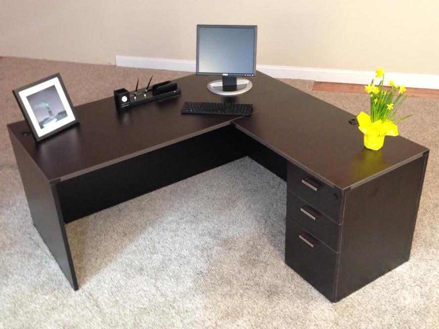 Concord, NH Rectangular L-desk #3 Rectangular Front L-Shaped Office Desks