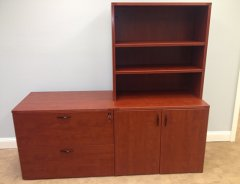 Mixed Storage Credenzas with Open Hutch